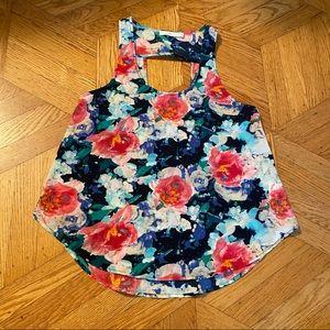 4/ $20 LUSH floral tank top blouse